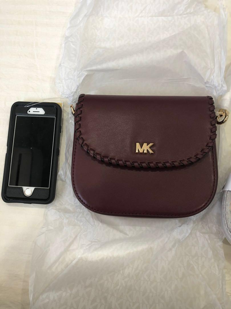 New comes with straps, saddle bag with real smooth leather, colour ox blood