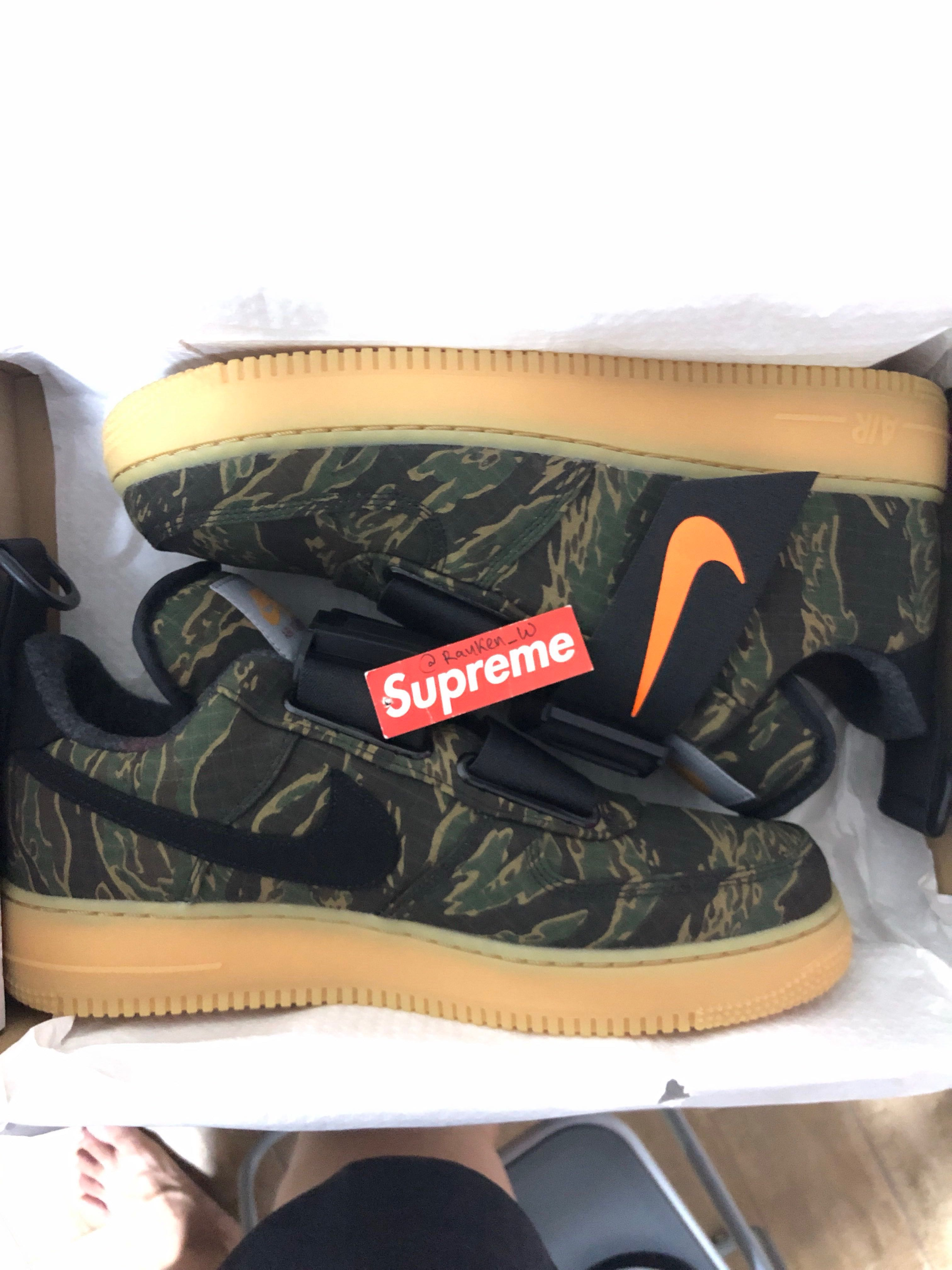 bf223c183537 Nike Air Force 1 Utility Low Premium x Carhartt WIP US10