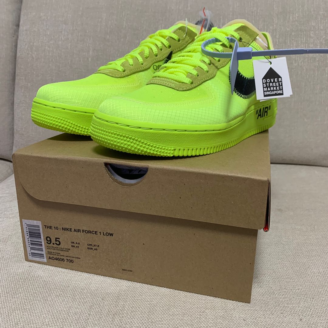05a95810ca89 Nike Air Force 1 x Off White Volt