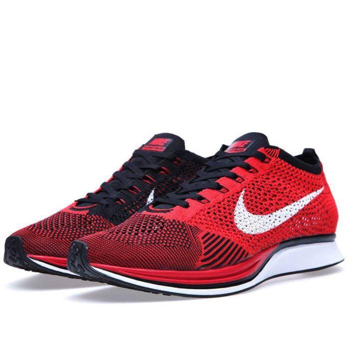 da6495861d611 Nike Flyknit Racer University Red