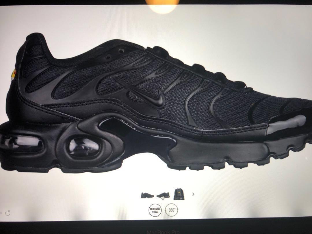buy popular 041cc 3969d Nike VaporMax Plus Black, Women's Fashion, Shoes on Carousell