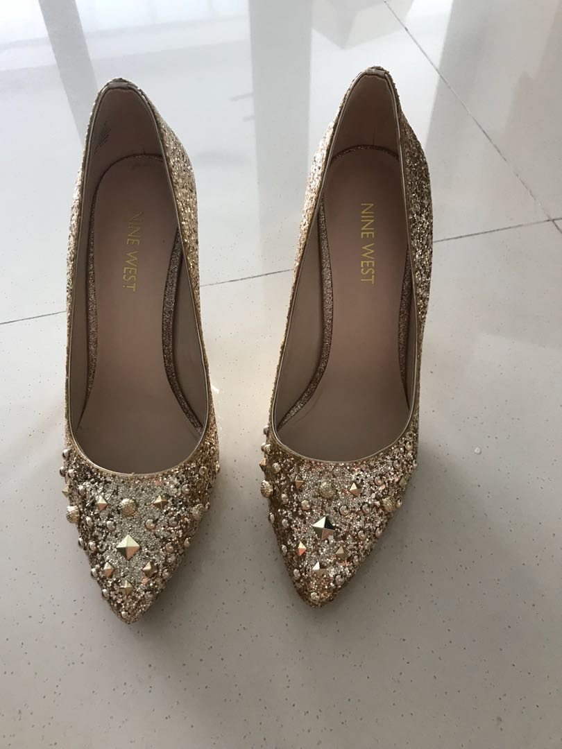 6a282a321ef Nine West Gold Prom Heels