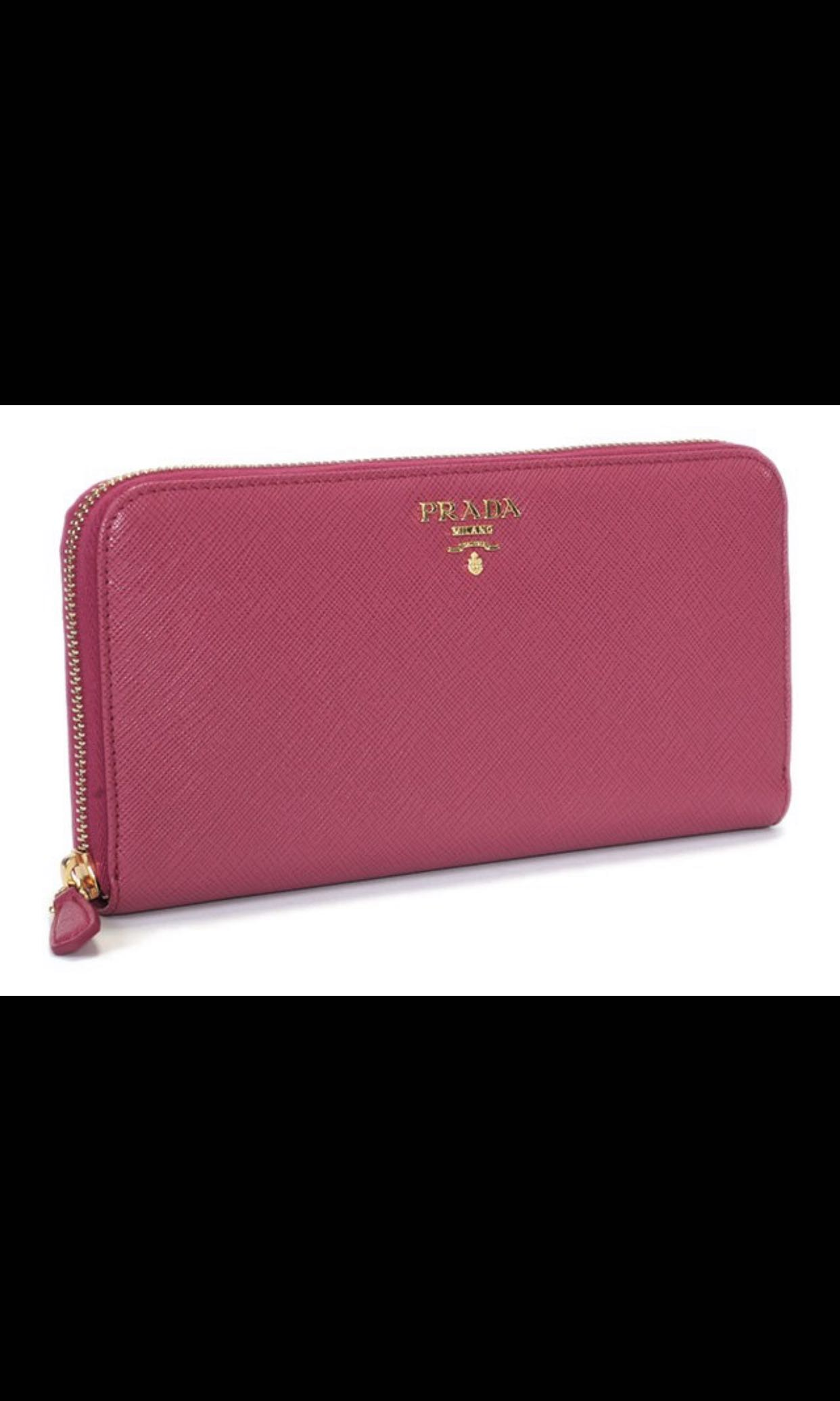 7db2a234d870e5 Prada Saffiano leather Long Zip Around Wallet, Luxury, Bags ...