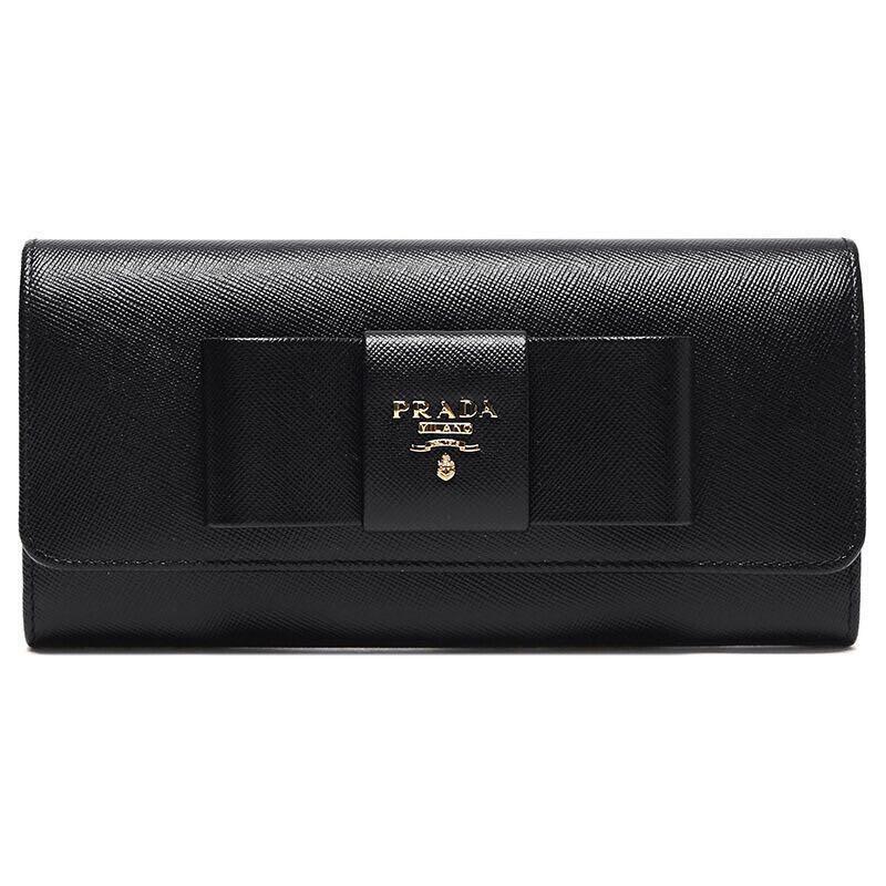 b1a77baa819a Prada Saffiano Leather Wallet Ribbon, Women's Fashion, Bags & Wallets,  Wallets on Carousell