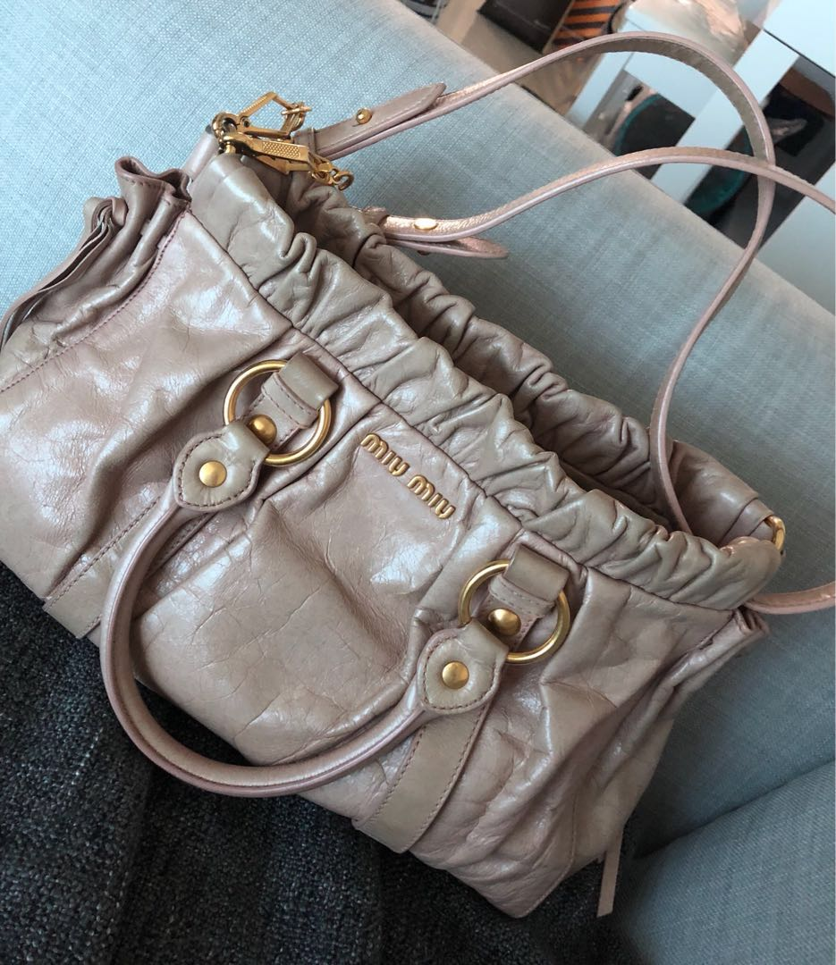 cd115c11aca Preloved Miu Miu Shoulder Bag, Luxury, Bags & Wallets, Handbags on ...