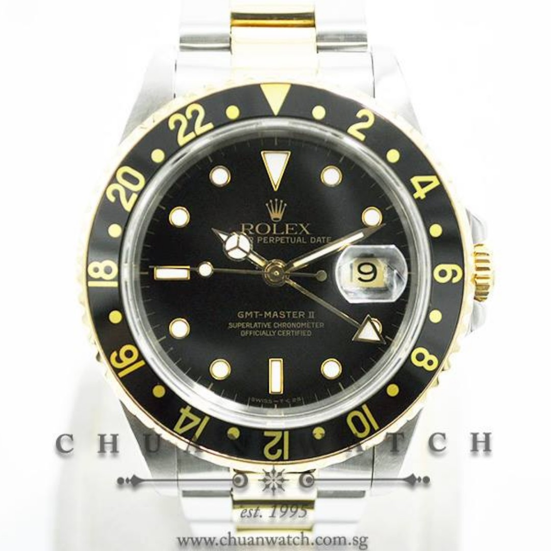 Pre Owned Rolex Gmt Master Ii Two Tone 16713 Discontinued Luxury