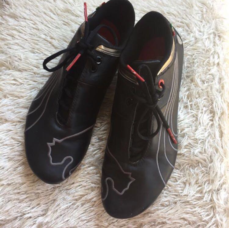 Puma x Ferrari Black Luxury Leather