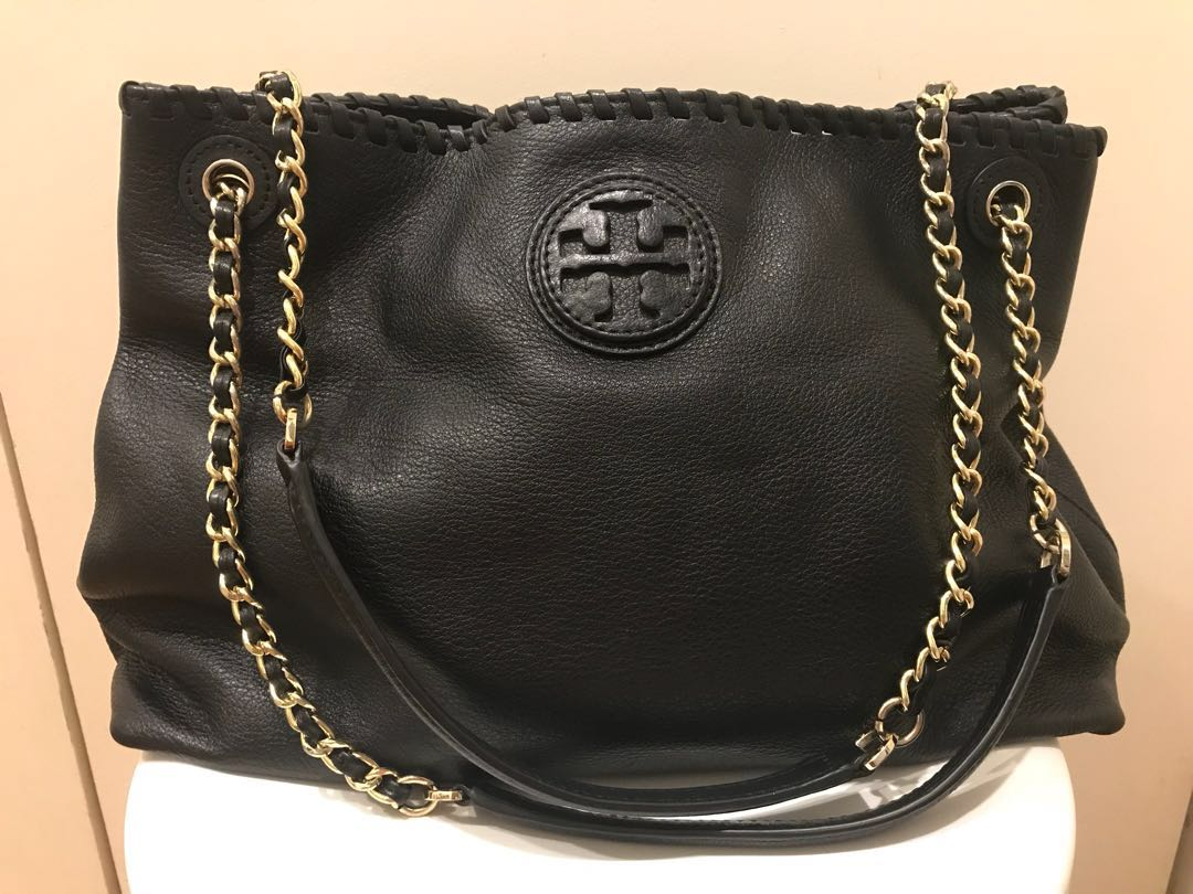 2e7ed31caf9 Repriced! Authentic Tory Burch Marion chain slouchy tote