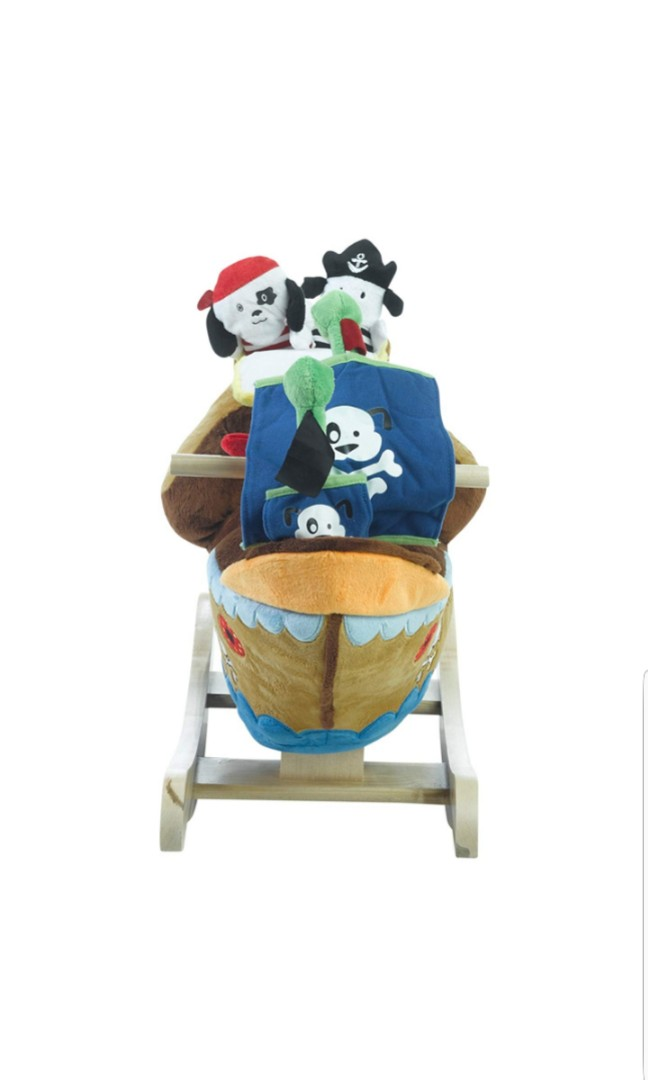 Swell Rockabye Ahoy Doggie Pirate Ship Rocker Baby Rocking Chair Made In Usa Andrewgaddart Wooden Chair Designs For Living Room Andrewgaddartcom