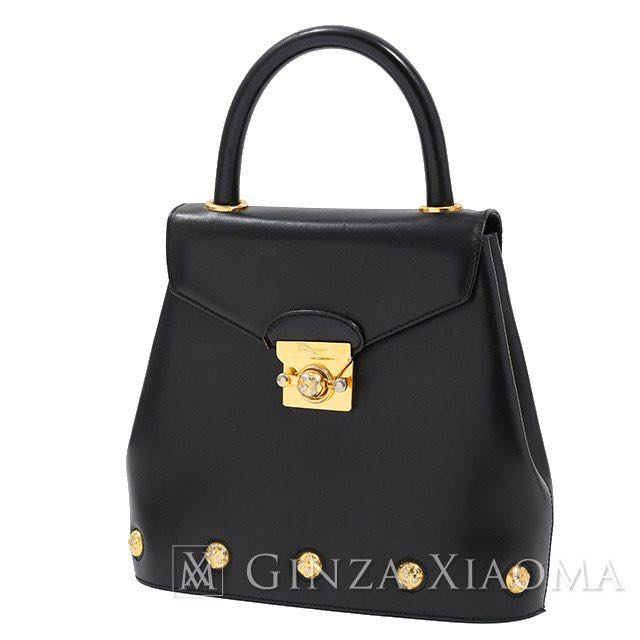 d39329e948 Salvatore Ferragamo Handbag leather black Price cut 154499