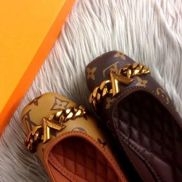 c4cfcd21ea07 Sepatu LOUIS VUITTON Flat Shoes PLATINUM QUALITY
