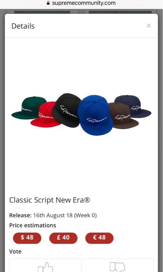 Supreme new era cap 245456d6d74e
