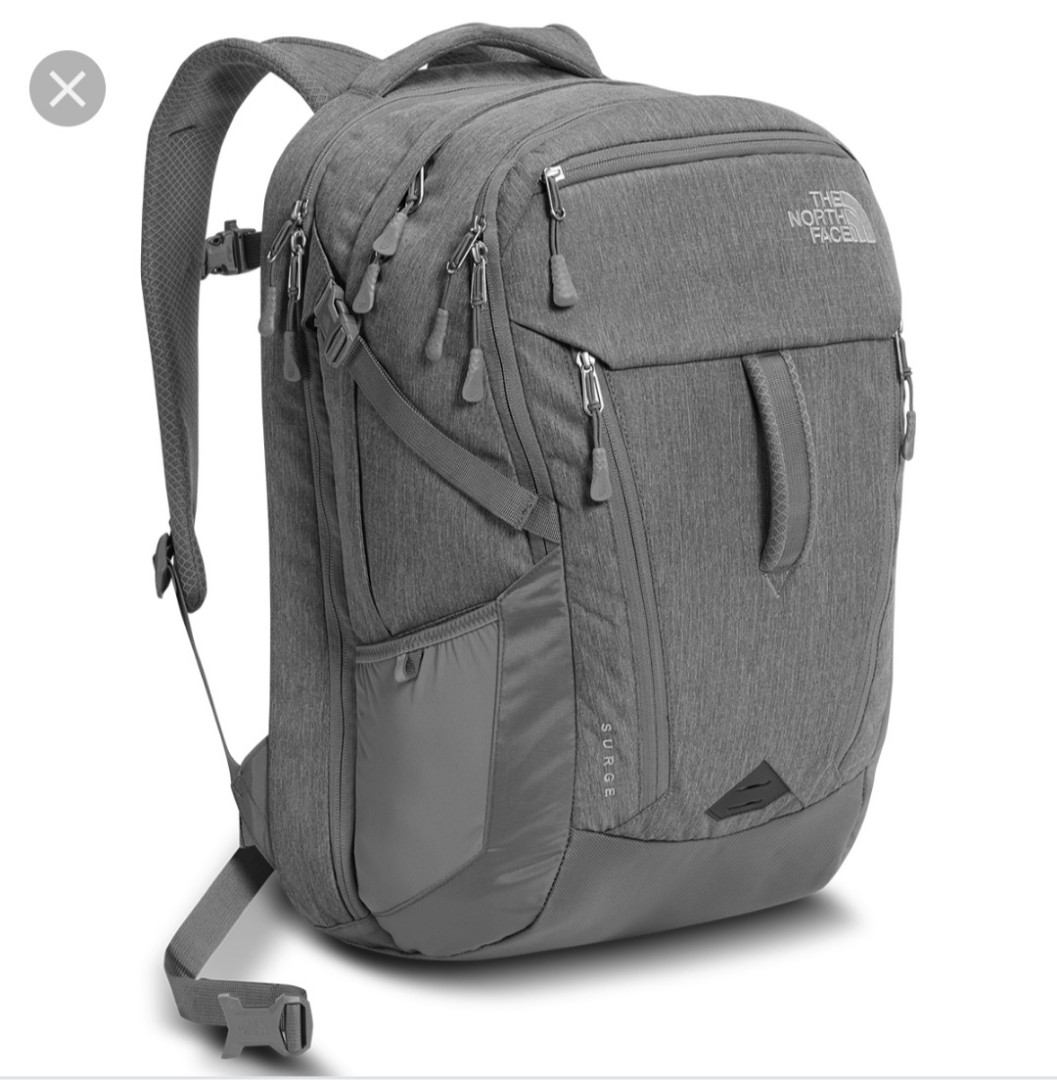 4e4242b1905 The North Face Surge Backpack Grey Heather, Sports, Sports & Games ...