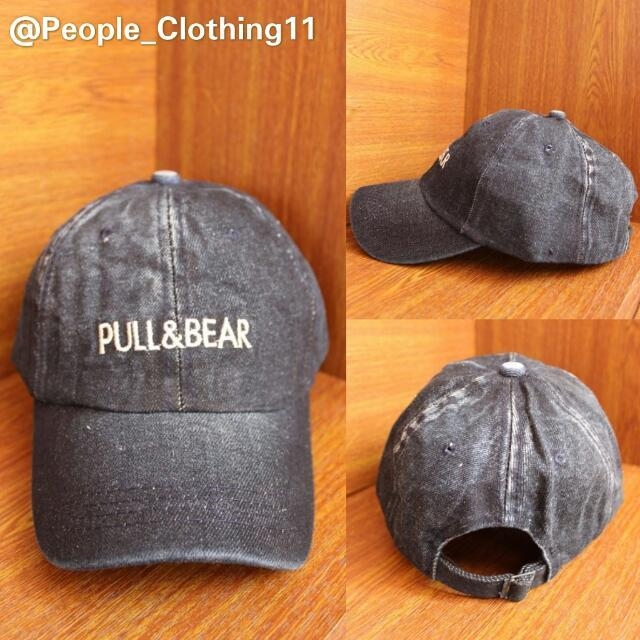 Topi Baseball Import Denim Pull & Bear Hitam