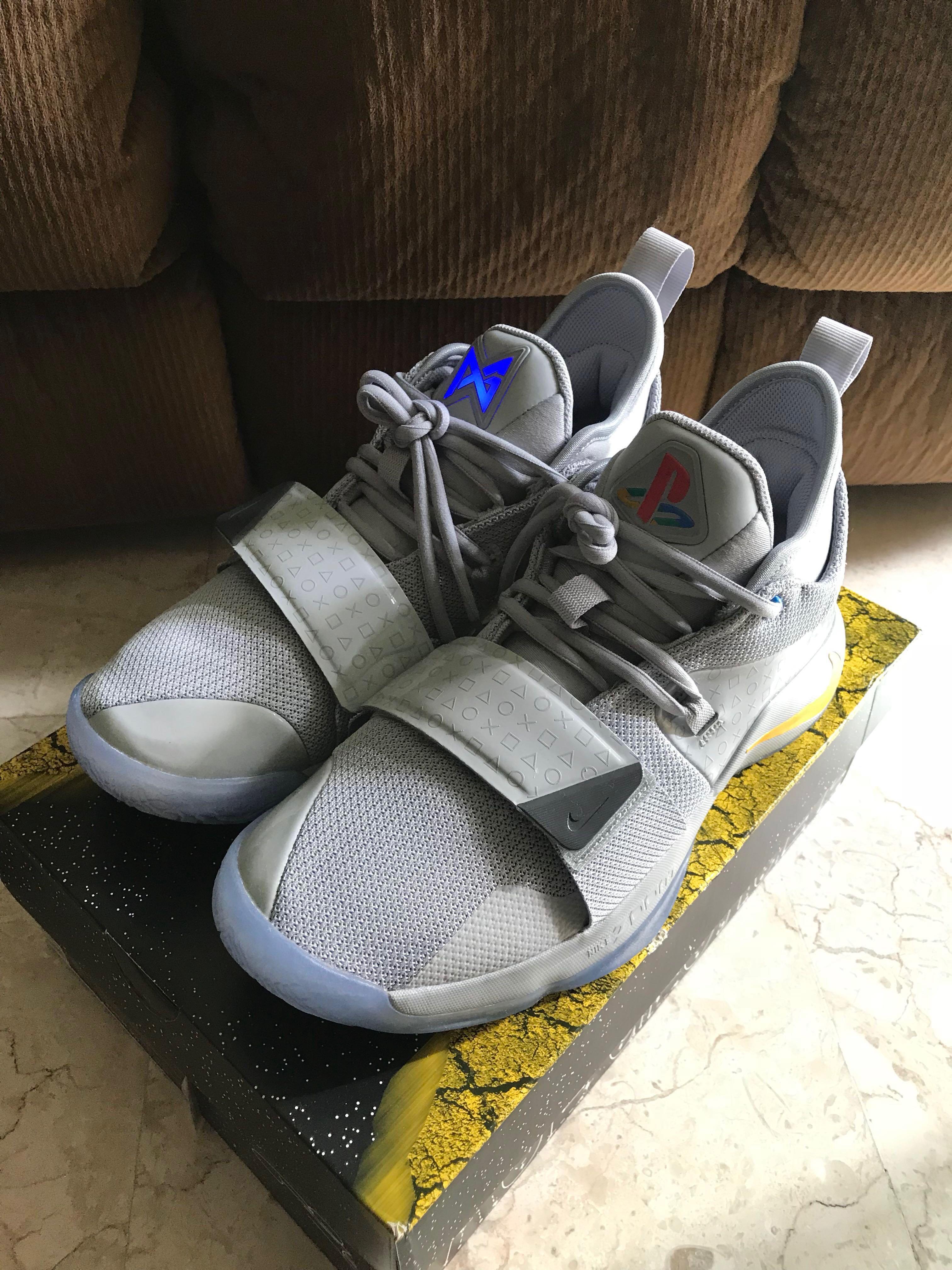 best service 9b4b0 5264a US 9 Nike PG 2.5 PlayStation Wolf Grey, Men's Fashion ...
