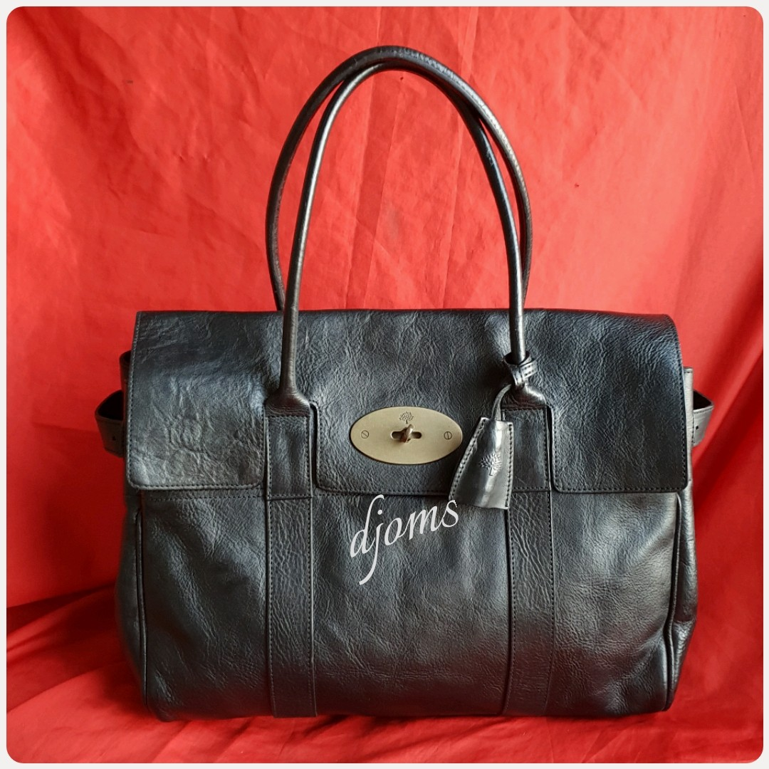 844b0b3743 🛑Mulberry Bayswater Black Leather Bag