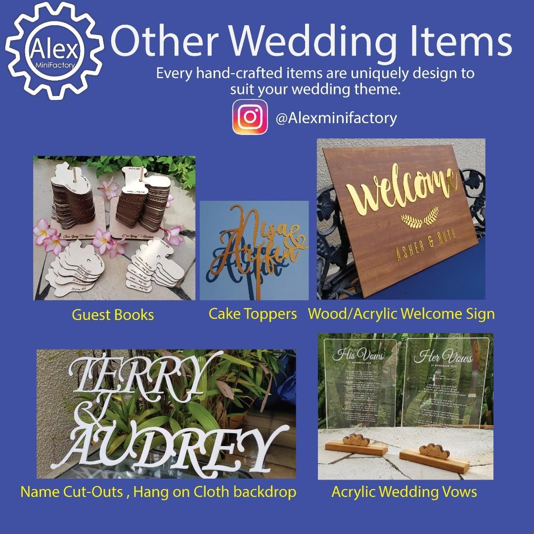 Wedding Event laser cut Names and Phrases, Design & Craft