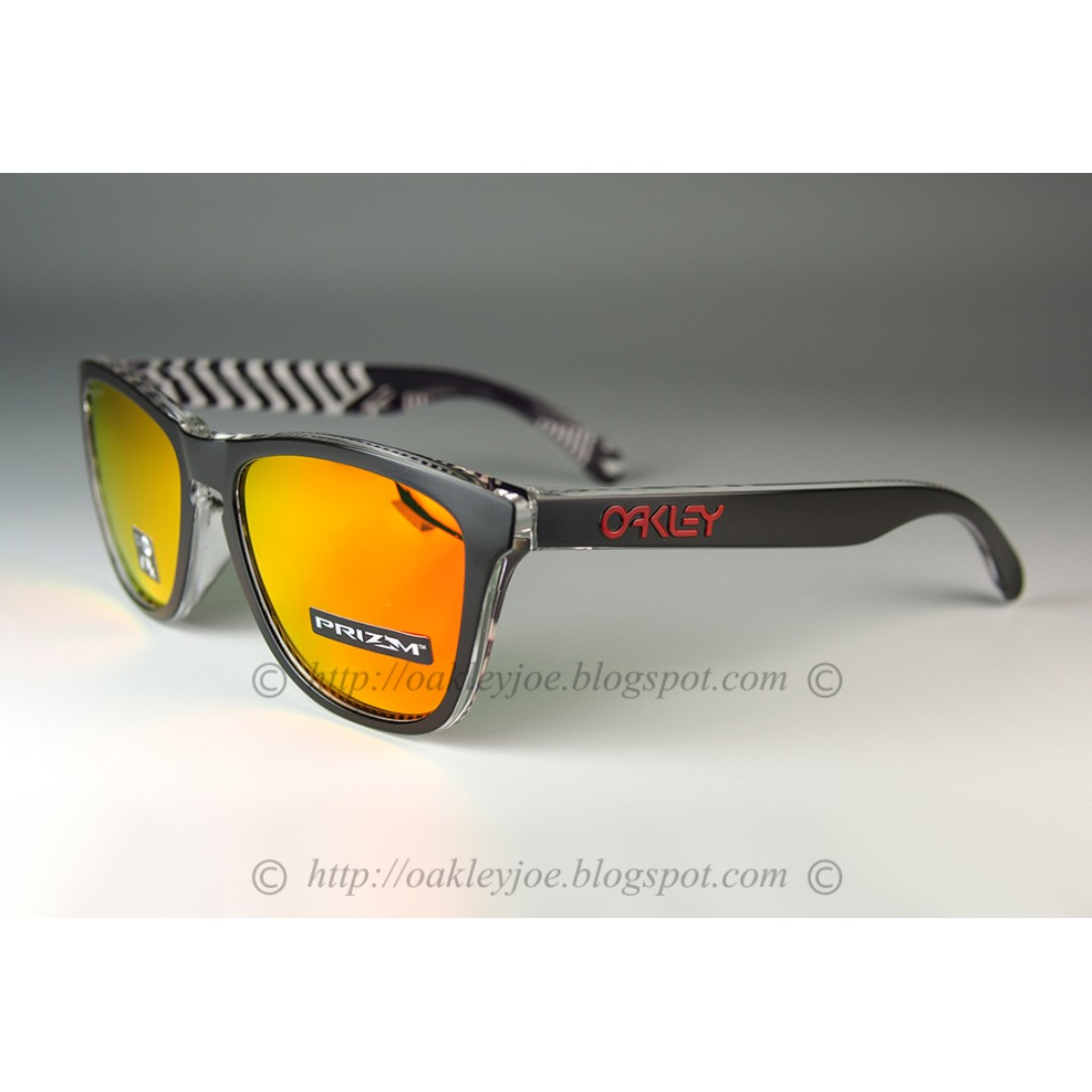 c585bdd994 Sale! BNIB Oakley Frogskins Asian Fit Urban Commuter tokyo black + prizm  ruby OO9245-6954 sunglass shades