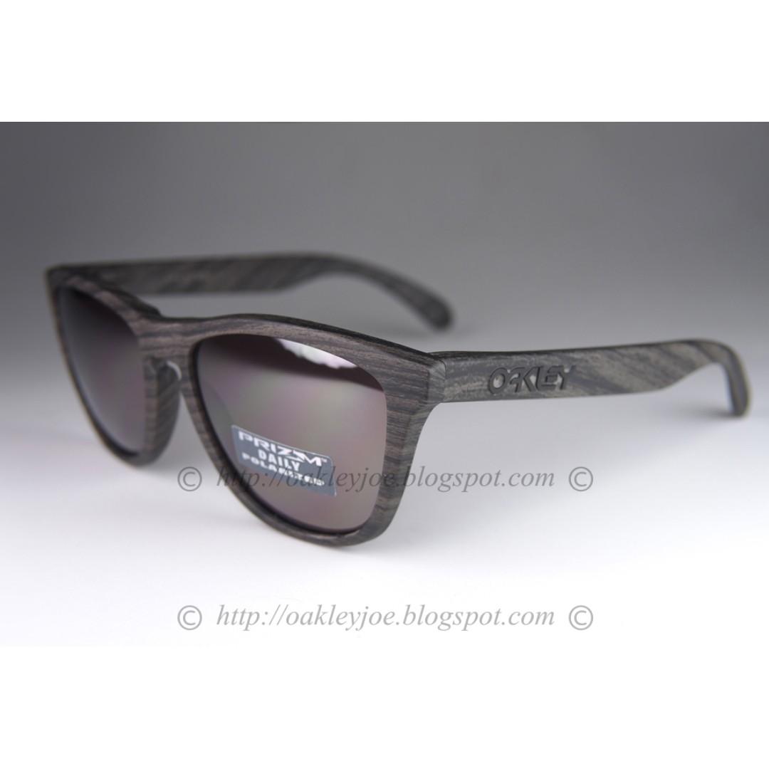 4c7c8cede41e Sale! BNIB Oakley Frogskins woodgrain + prizm daily polarized oo9013 ...
