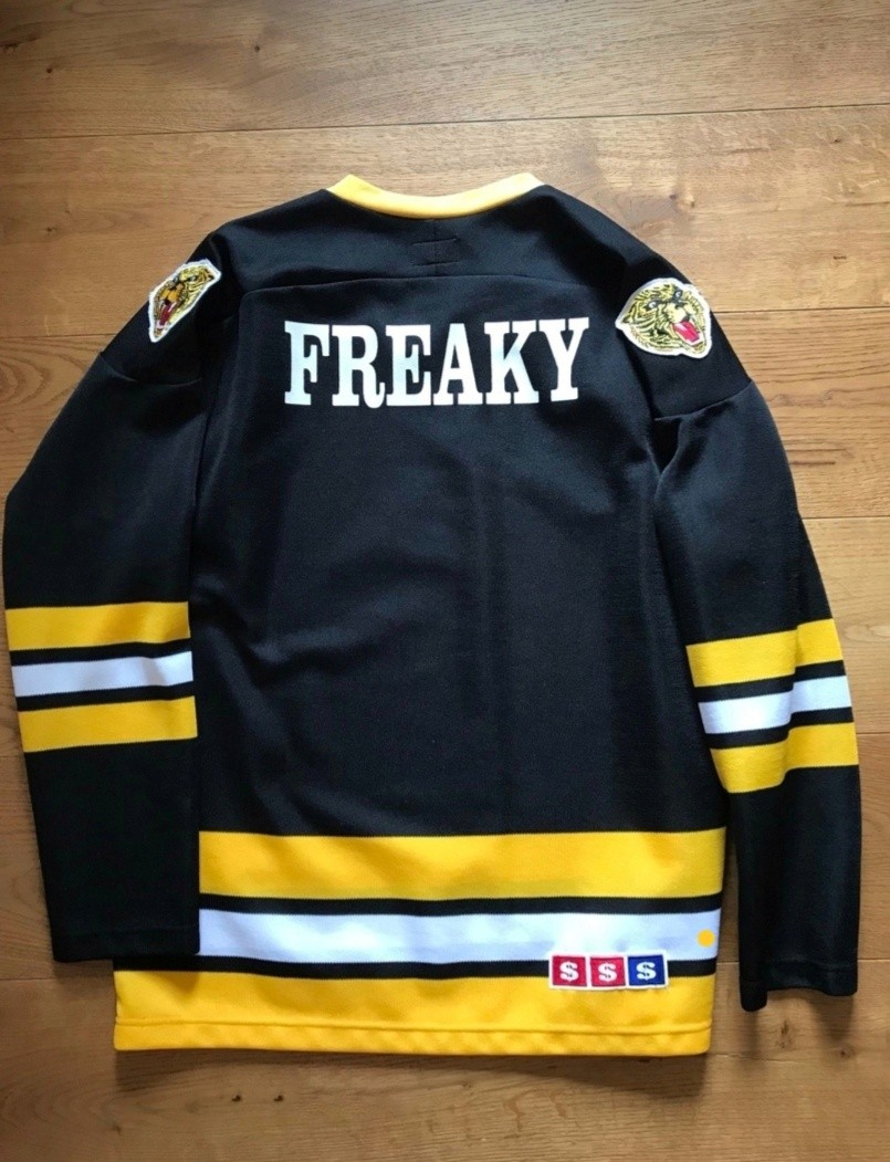 26a2263c Supreme Freaky Hockey Jersey Black, Men's Fashion, Clothes, Tops on ...