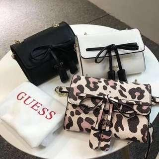 GUESS WOMEN'S RIBBON SLING BAG WITH DUST BAG GUESS SLING BAG SLING BAG MURAH BEG CANTIK BEG MURAH CUTE BAG GUESS BAG