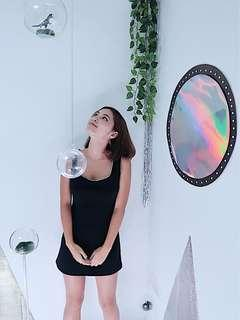 🚚 M's Habit 黑色運動風背心洋裝