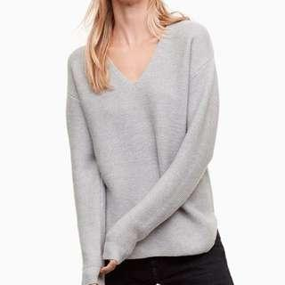 Aritzia wolter sweater in grey