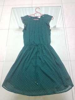 H&M Dark Green Dress #xmas50