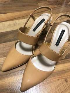 Charles and keith nude heel
