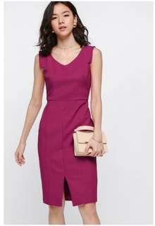 Love Bonito Ferrey Tailored Midi Dress in Fuschia, Size M