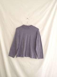 Purple Semi Turtleneck Top