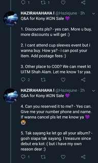 Q&A for Kony iKON Sale