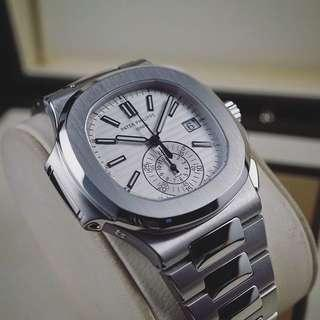 Global prices at 106k-125k and rising fast. Secure this Patek Philippe Nautilus Chronograph 5980/1-a-019