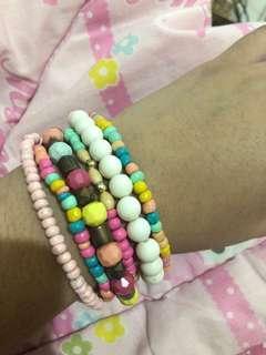Pinkish bracelets