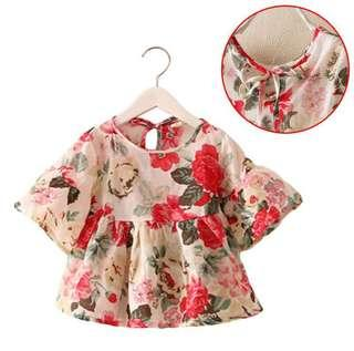 Baby Floral Cotton blouse