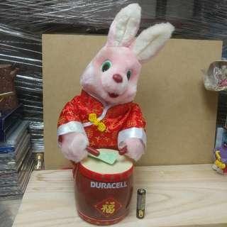 懷舊金霸王 賀年版 電池小白兔