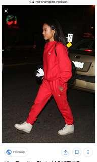 Red Champion Tracksuit