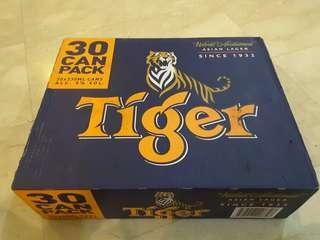 (Ready Stock) 18 years above Tiger beer 30cans x 330ml 5%alcohol best before Nov 2019
