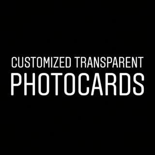 Customised Transparent Photocards