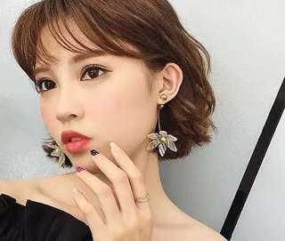Flower Drop Korean Earring