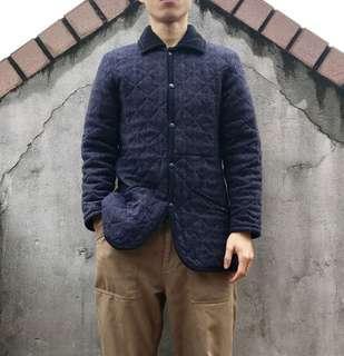 🚚 Lavenham燈芯絨領藍色鋪棉外套