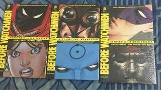 Before Watchmen Hardcover Set 3 : Minute Man Night Owl Dr Manhattan Silk Spectre Ozymandias Crimson Corsair : By Drawyn Cooke / Amanda Conner / Adam Andy Kubert / Straczynski / Adam Hughes / Len Wein / Steve Rude / Jae Lee / Bill Sienkiewicz & More