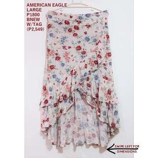 American Eagle Floral Maxi Skirt with Ruffles