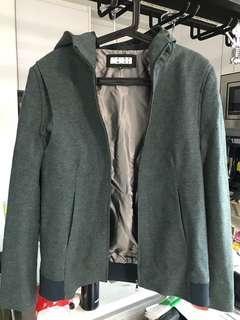 男裝外套墨綠色