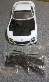 1/10 scale rx7 body shell