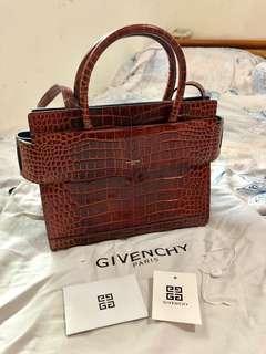 全新買來欣賞!16年走秀款 Givenchy horizon 紀梵希鱷魚皮 手提包 斜跨包