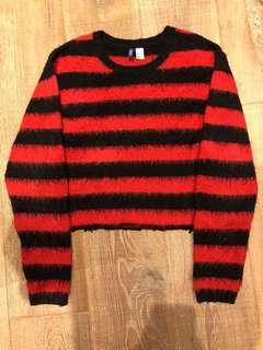 Striped Mohair Sweatshirt Size L
