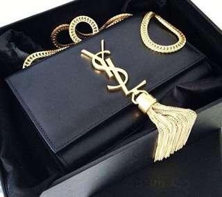YSL TASSEL CHAINED