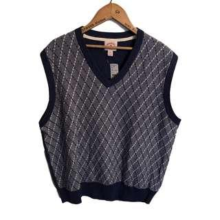Brooks Brothers Navy Blue Knit Sleeveless Sweater XXL