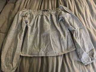 EUC Brandy Melville off the shoulder top